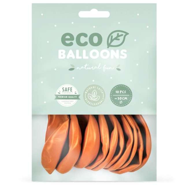 Balony Ekologiczne pomarańczowy metalik Partydeco 10 10 szt