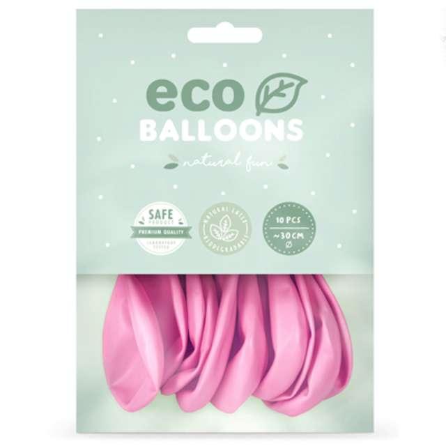 Balony Ekologiczne różowy metalik Partydeco 10 10 szt