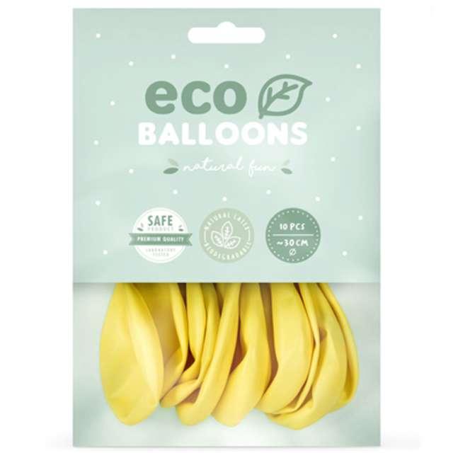 Balony Ekologiczne słomkowy metalik Partydeco 10 10 szt