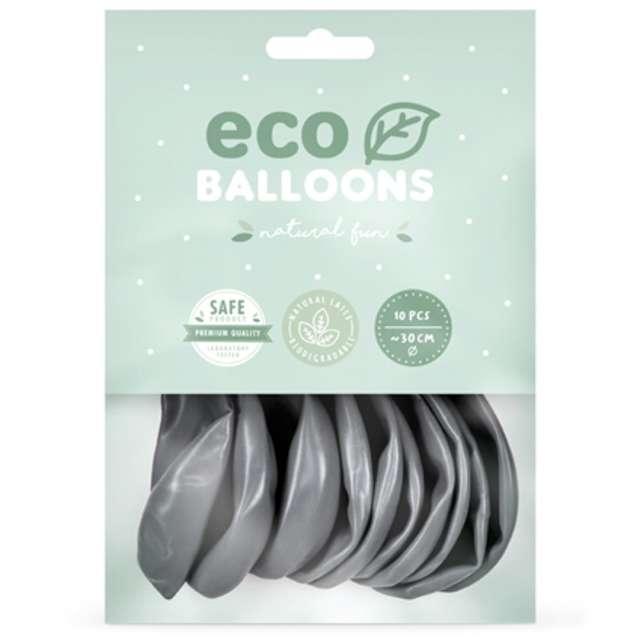 Balony Ekologiczne srebrny metalik Partydeco 10 10 szt