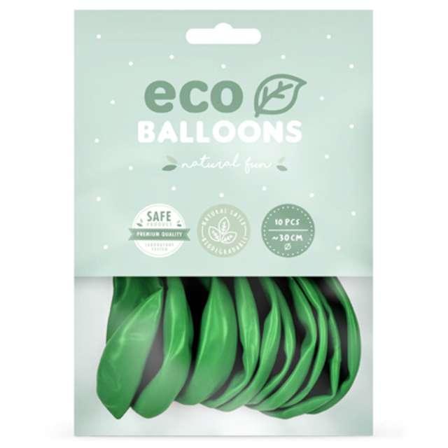 Balony Ekologiczne zielona trawa metalik Partydeco 10 10 szt