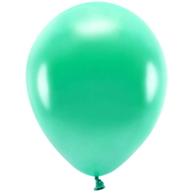 """Balony """"Ekologiczne"""", zielony metalik, Partydeco, 10"""", 10 szt"""