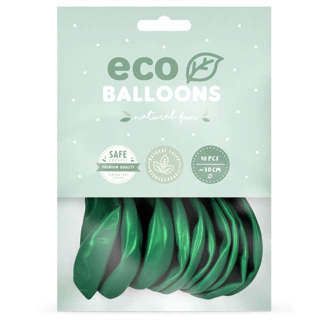 Balony Ekologiczne zielony metalik Partydeco 10 10 szt