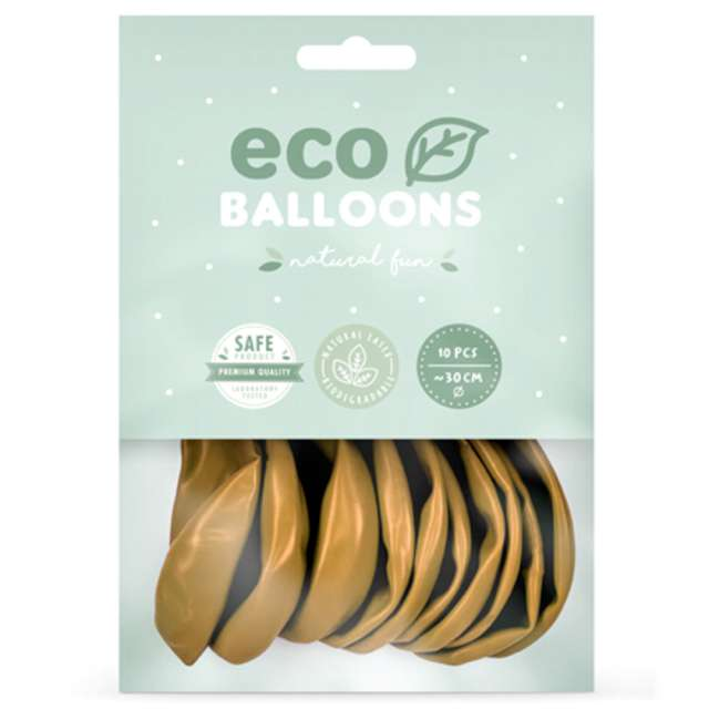 Balony Ekologiczne złoty metalik Partydeco 10 10 szt
