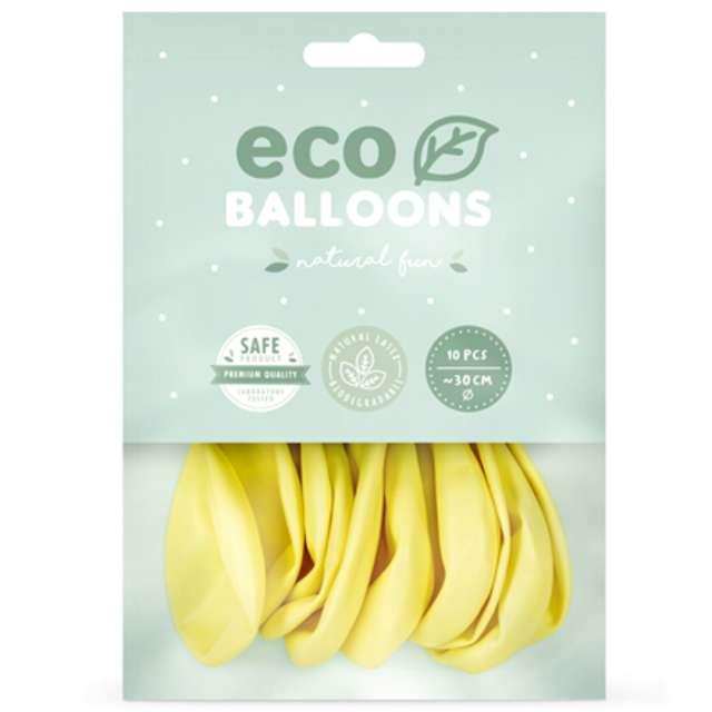 Balony Ekologiczne żółte jasne Partydeco 10 10 szt