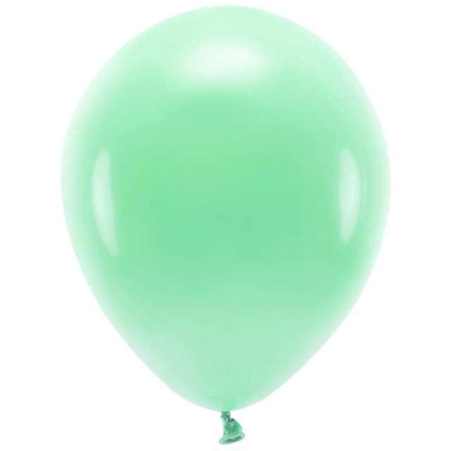 """Balony """"Ekologiczne"""", miętowe, Partydeco, 10"""", 10 szt"""