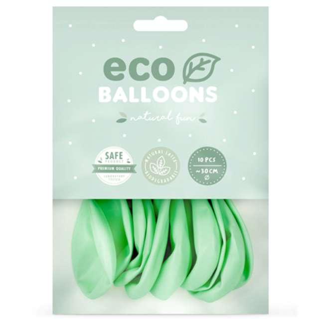 Balony Ekologiczne miętowe Partydeco 10 10 szt