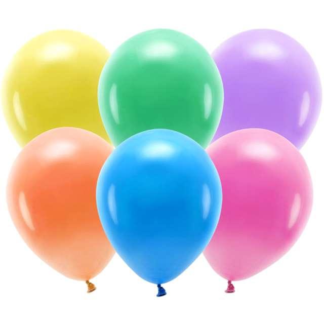 "Balony ""Ekologiczne"", mix, Partydeco, 10"", 10 szt"