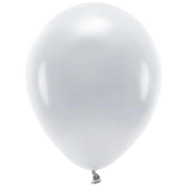 "Balony ""Ekologiczne"", szare, Partydeco, 10"", 10 szt"