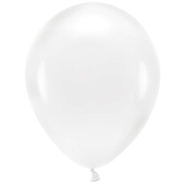 """Balony """"Ekologiczne"""", transparentne, Partydeco, 10"""", 10 szt"""