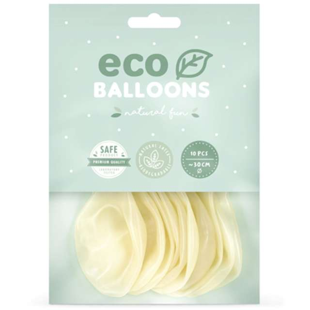 Balony Ekologiczne transparentne Partydeco 10 10 szt