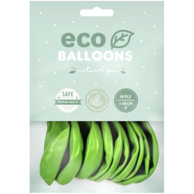 Balony Ekologiczne zielone jabłuszko metalik Partydeco 10 10 szt