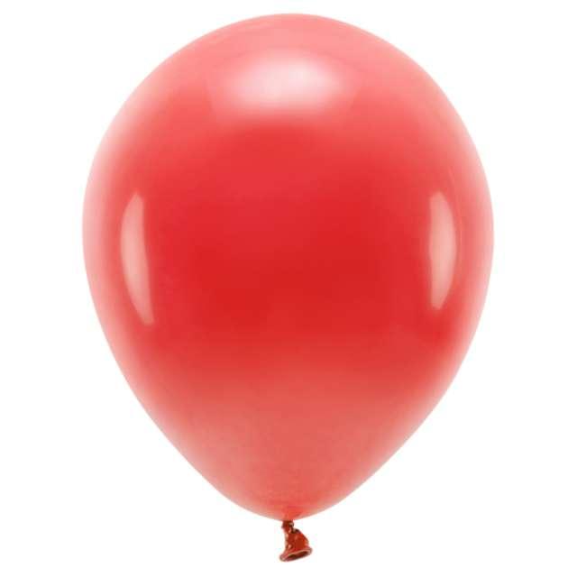 """Balony """"Ekologiczne"""", czerwone, Partydeco, 10"""", 10 szt"""