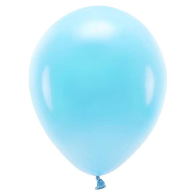 """Balony """"Ekologiczne"""", niebieskie jasne, Partydeco, 10"""", 10 szt"""