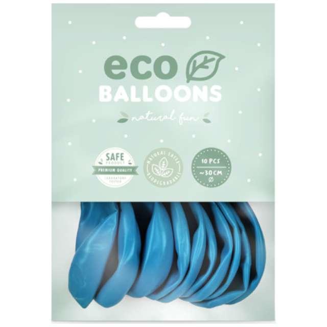 Balony Ekologiczne niebieskie jasne Partydeco 10 10 szt