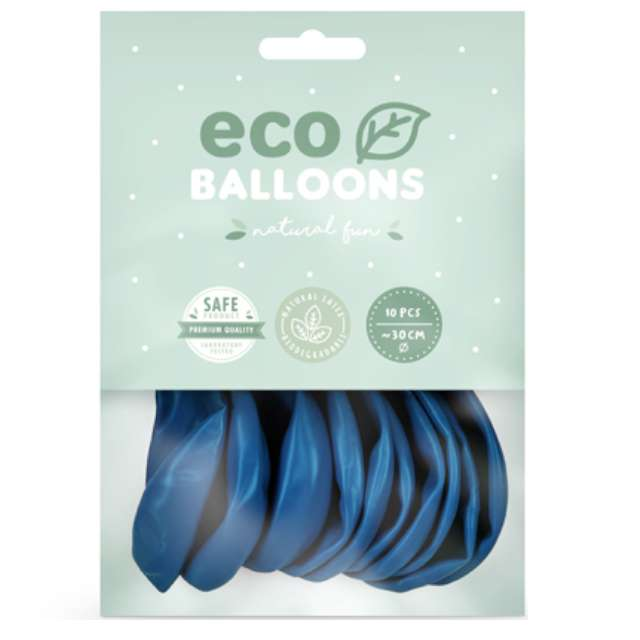 Balony Ekologiczne niebieskie Partydeco 10 10 szt