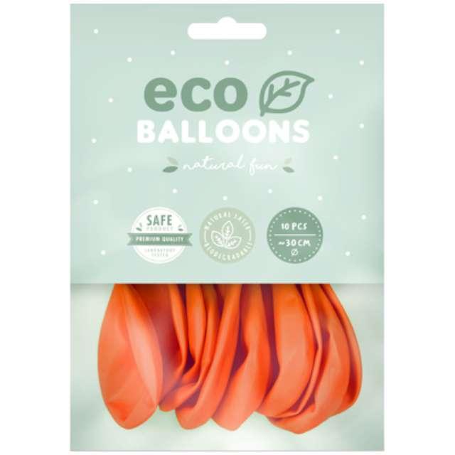 Balony Ekologiczne pomarańczowe Partydeco 10 10 szt