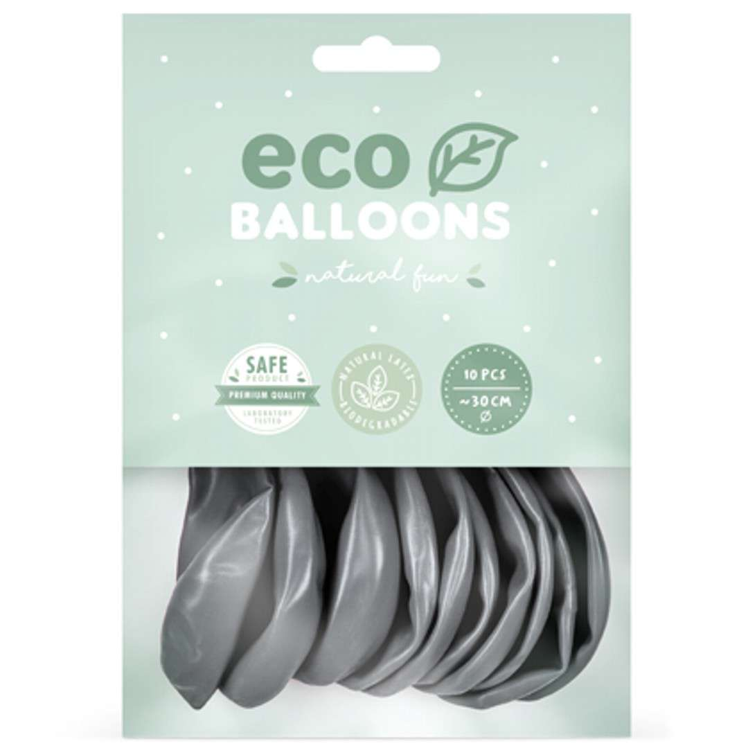 Balony Ekologiczne srebrny metalik Partydeco 12 10 szt
