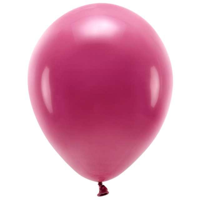"""Balony """"Ekologiczne"""", bordo, Partydeco, 10"""", 10 szt"""