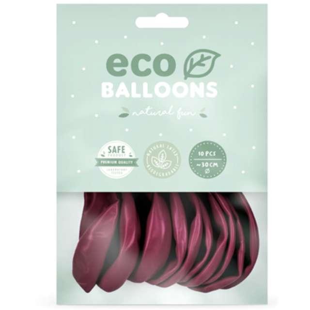 Balony Ekologiczne bordo Partydeco 10 10 szt