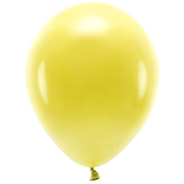 """Balony """"Ekologiczne"""", żółte ciemne, Partydeco, 10"""", 10 szt"""