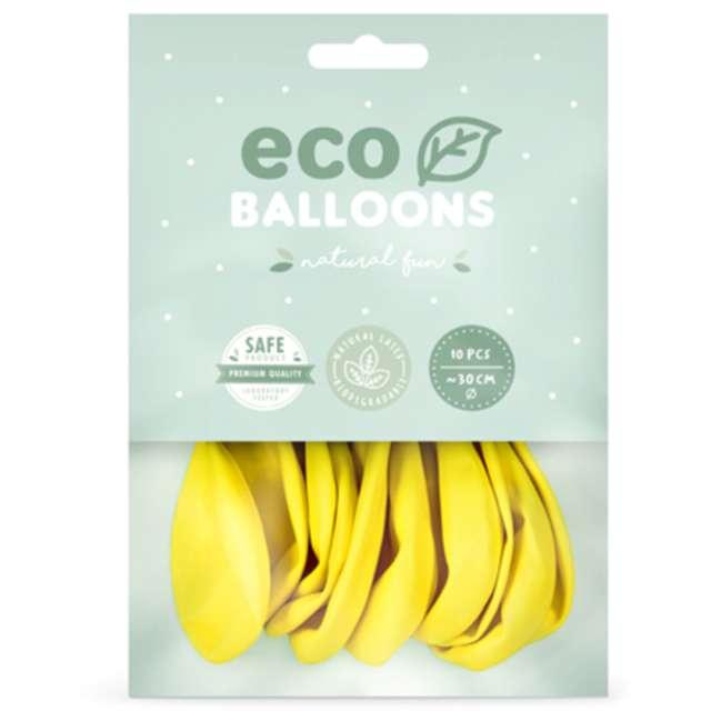 Balony Ekologiczne żółte ciemne Partydeco 10 10 szt