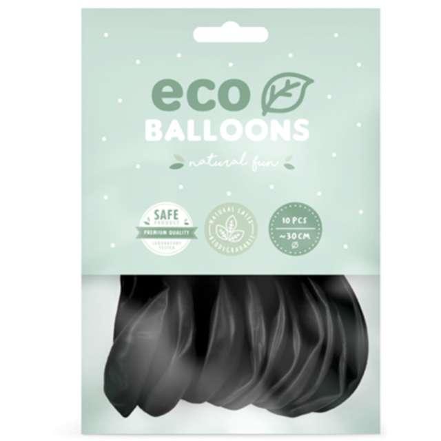 Balony Ekologiczne czarny Partydeco 10 10 szt