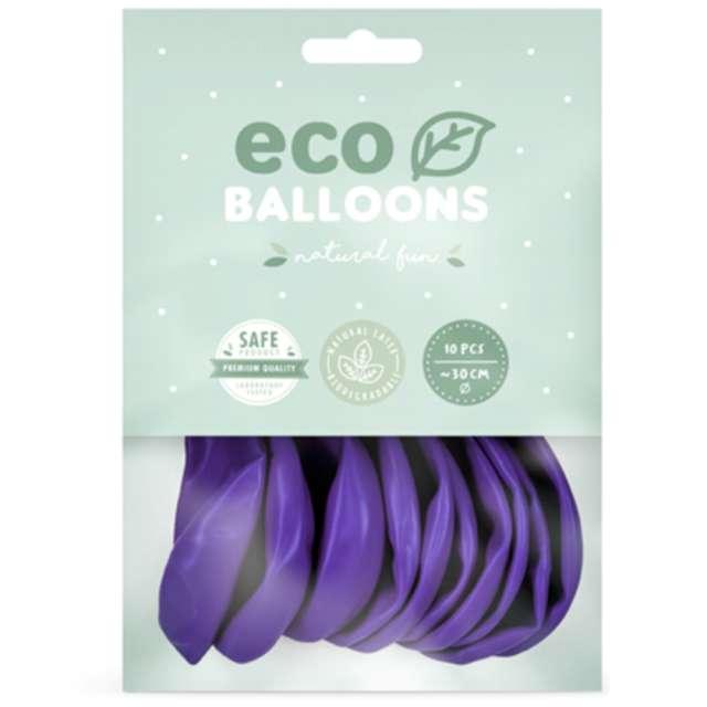 Balony Ekologiczne fioletowe Partydeco 10 10 szt