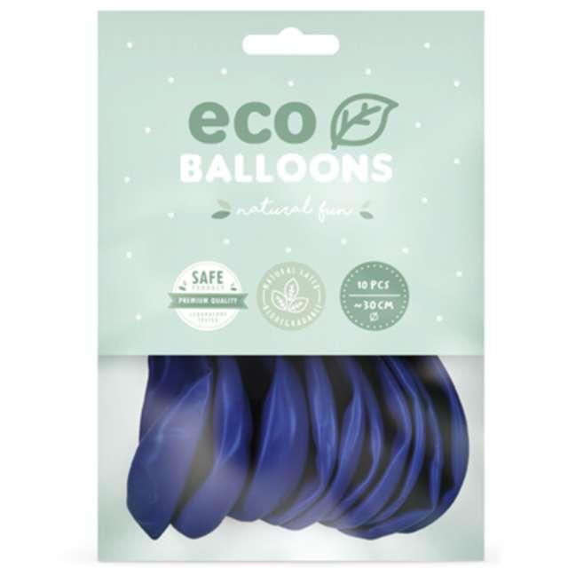 Balony Ekologiczne granatowe Partydeco 10 10 szt