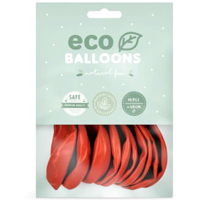 Balony Ekologiczne koralowe Partydeco 10 10 szt