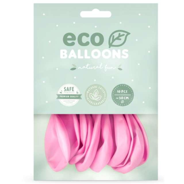 Balony Ekologiczne różowe Partydeco 10 10 szt