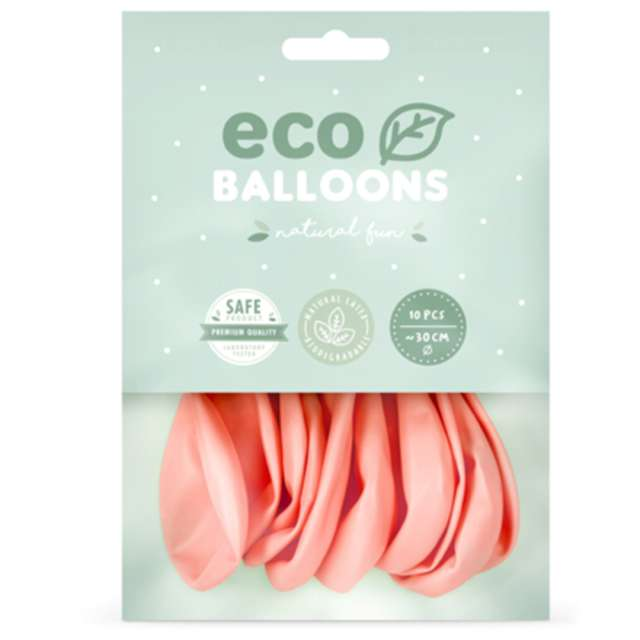 Balony Ekologiczne różowy rumiany Partydeco 10 10 szt