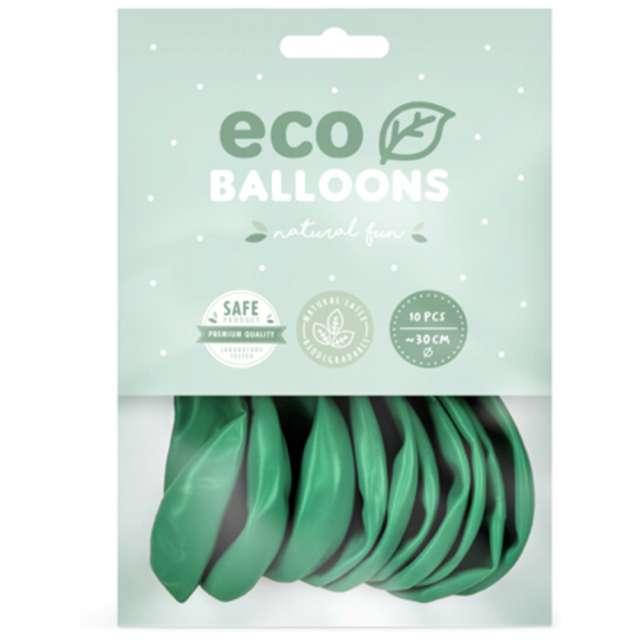 Balony Ekologiczne zielone Partydeco 10 10 szt