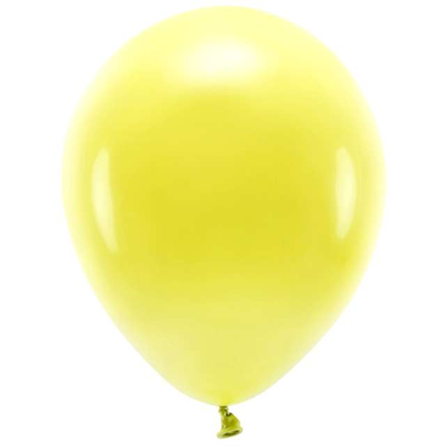 "Balony ""Ekologiczne"", żółte, Partydeco, 10"", 10 szt"