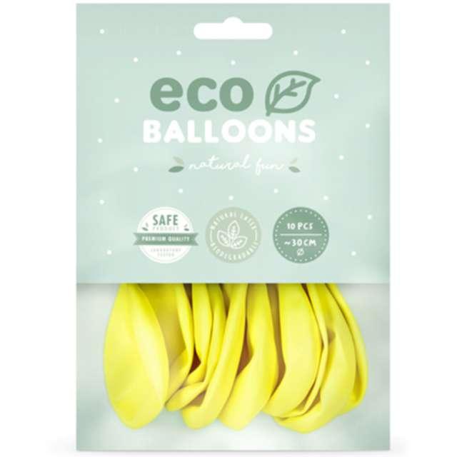 Balony Ekologiczne żółte Partydeco 10 10 szt