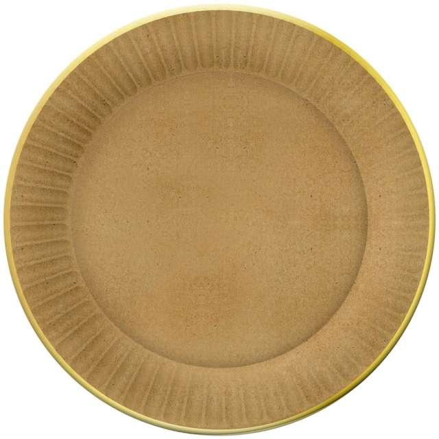"""Talerzyki papierowe """"Kraft"""", Godan, 23 cm, 6 szt"""