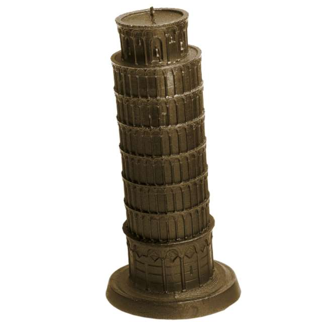 Świeca Krzywa Wieża w Pizie złota Candellana