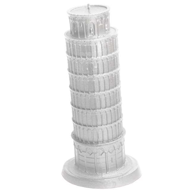 Świeca Krzywa Wieża w Pizie srebrna Candellana