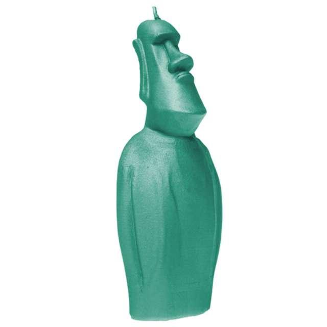 Świeca Posąg Moai turkusowy Candellana
