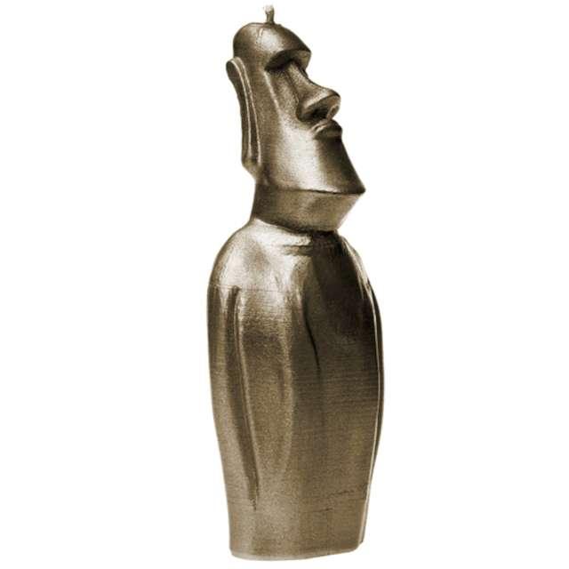 Świeca Posąg Moai złoty Candellana