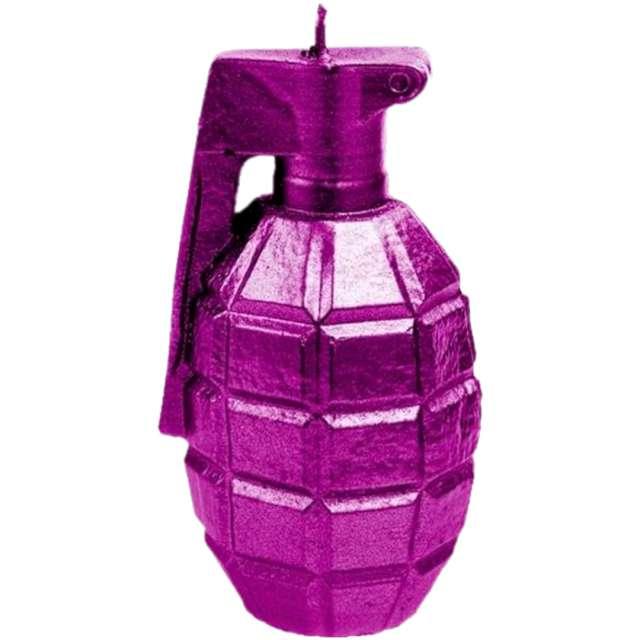 "Świeca ""Granat XL"", różowy metalik, Candellana"