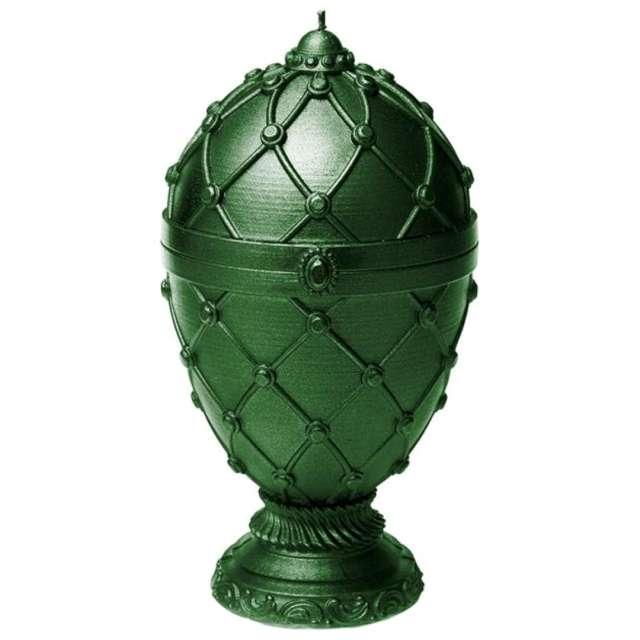 Świeca Jajo Faberge XXL zielona Candellana