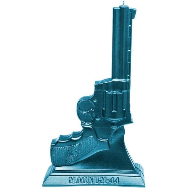 """Świeca """"Magnum 44"""", niebieska, Candellana"""