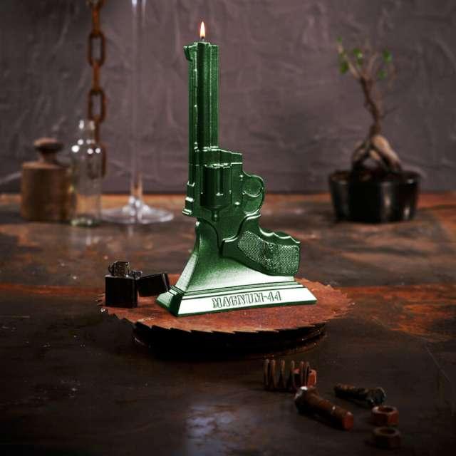 Świeca Magnum 44 zielony Candellana