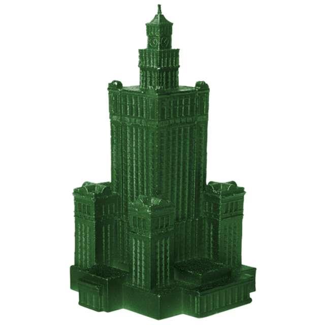 """Świeca """"Pałac Kultury XXL"""", zielony metalik, Candellana"""