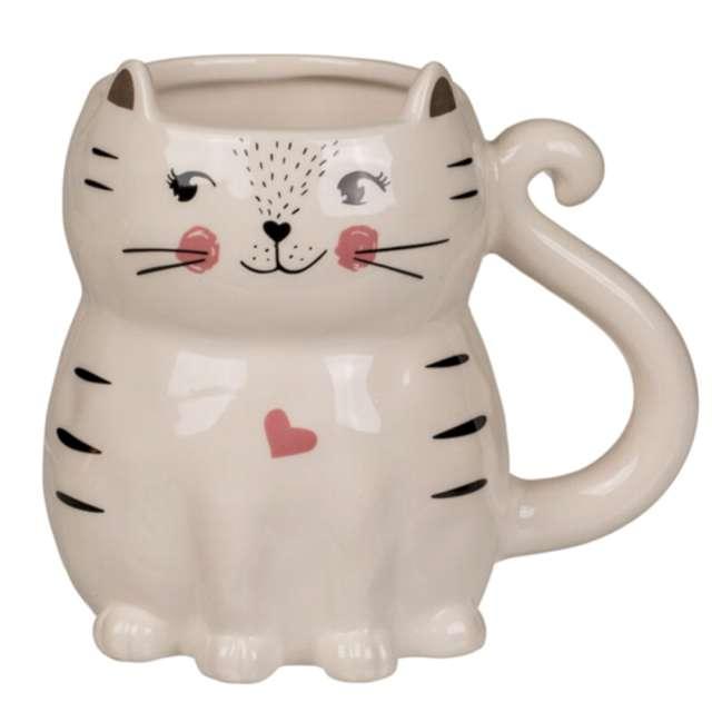 """Kubek """"Ceramiczny kot"""", biały, OOTB"""