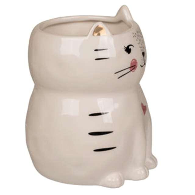 Kubek Ceramiczny kot biały OOTB