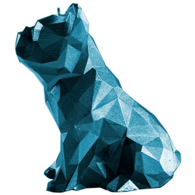 Świeca Buldog niebieski metalik Candellana