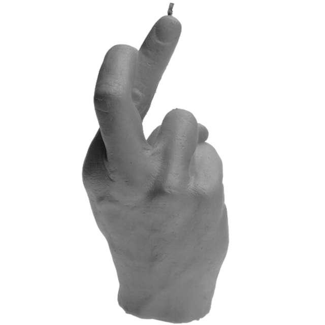 Świeca Skrzyżowane palce szary mat Candellana