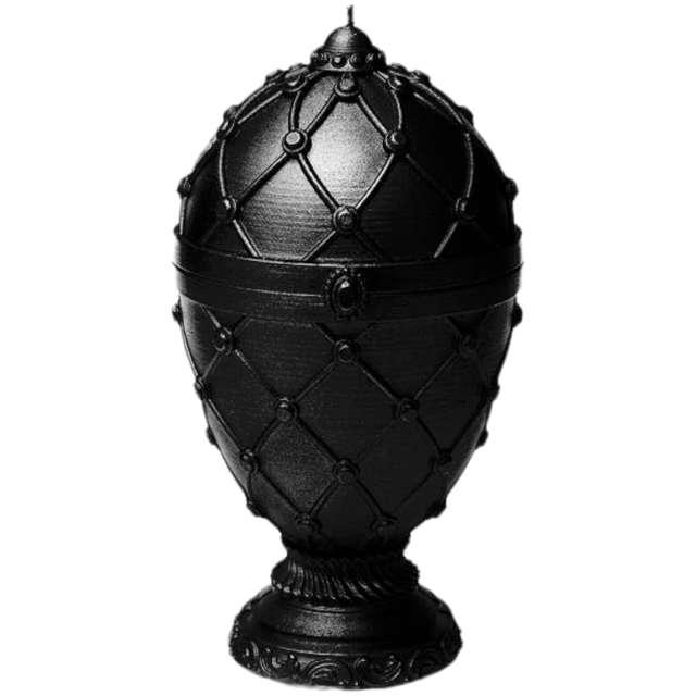 """Świeca """"Jajo Faberge XXL"""", czarna, Candellana"""
